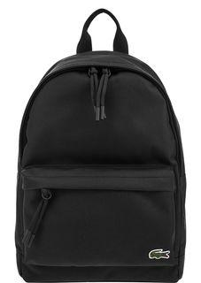 Черный текстильный рюкзак с отделением для планшета Lacoste