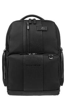 Черный рюкзак с двумя отделами Piquadro