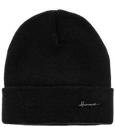 Черная трикотажная шапка Herman
