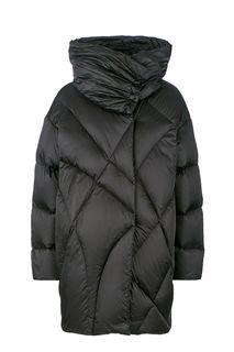 Короткий зимний пуховик оверсайз черного цвета add
