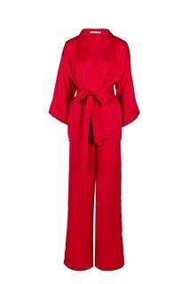 Костюм красного цвета из блузы и брюк Alisia HIT
