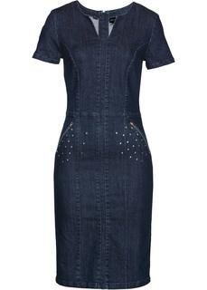 Джинсовое платье Премиум Bonprix