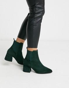 Замшевые ботинки в ковбойском стиле Vero Moda-Зеленый