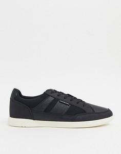 Черные кроссовки с сетчатой отделкой Jack & Jones-Синий