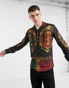 Стеганая разноцветная рубашка с длинными рукавами Criminal Damage-Мульти