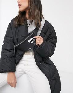 Нейлоновая сумка-кошелек на пояс Karl Lagerfeld-Черный