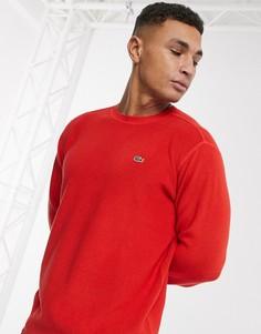 Джемпер с круглым вырезом Lacoste-Красный