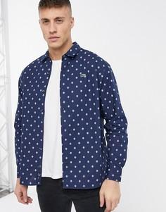 Рубашка с длинными рукавами Lacoste-Темно-синий