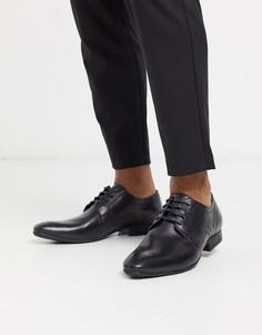 Черные кожаные туфли на шнуровке Moss London-Черный