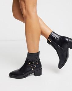 Ботинки на каблуке с пряжкой Truffle Collection-Коричневый