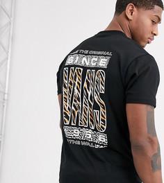 Черная футболка с анималистичным принтом Vans эксклюзивно для ASOS-Черный
