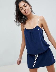 Махровое пляжное платье Polo Ralph Lauren-Темно-синий