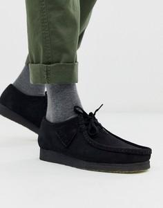 Черные замшевые туфли Clarks Originals wallabee-Черный