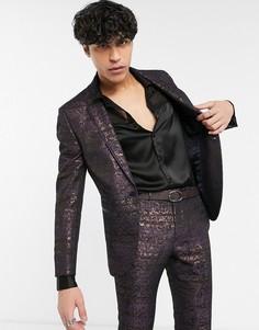 Приталенный пиджак с цветочным принтом Topman-Мульти