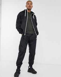 Черный спортивный костюм с худи на молнии Nike