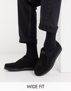 Замшевые туфли для широкой стопы со шнуровкой KG by Kurt Geiger-Черный
