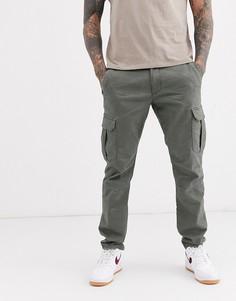 Серые зауженные брюки карго Esprit-Серый