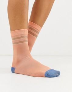 Спортивные носки в полоску Ichi-Розовый