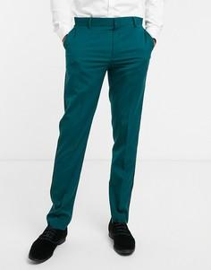 Зеленые брюки скинни под смокинг ASOS DESIGN-Зеленый