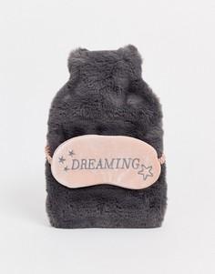 Серая грелка и маска для сна Hunkemoller-Серый