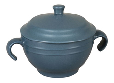 Супница с крышкой (синяя) Rosenberg