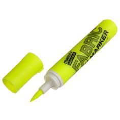 Маркер-кисть для светлых тканей неон-желт, MAR722/F5 Marvy
