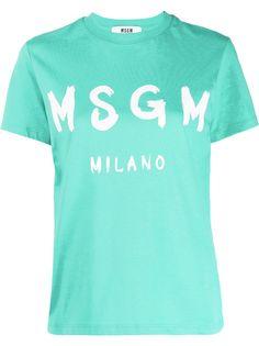 MSGM футболка с круглым вырезом и логотипом