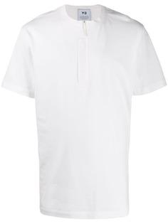 Y-3 футболка с короткими рукавами и молнией
