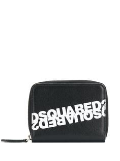 Dsquared2 кошелек с круговой молнией и логотипом