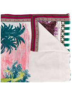Etro длинный платок с принтом