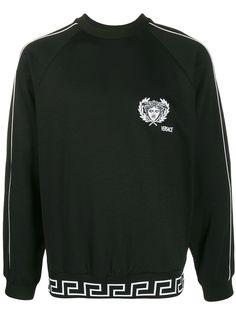 Versace толстовка с вышивкой Medusa и логотипом