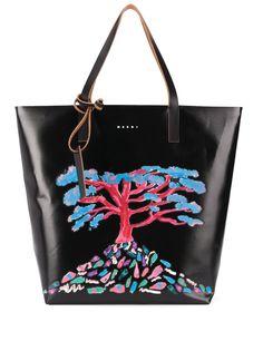 Marni декорированная сумка-тоут