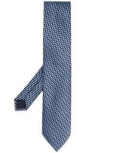 Ermenegildo Zegna жаккардовый галстук