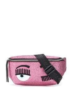 Chiara Ferragni поясная сумка Winking Eye с блестками