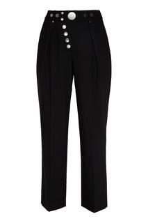 Черные брюки с кнопками Alexander Wang