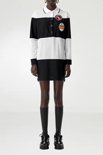 Черно-белое платье-поло Burberry
