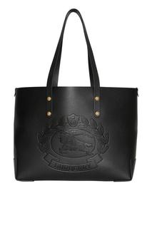Черная сумка-шоппер прямоугольной формы Burberry