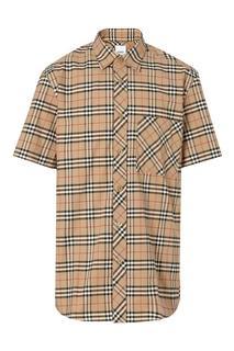 Песочная рубашка с коротким рукавом Burberry