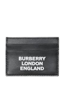 Черная визитница с логотипом Burberry