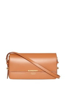 Коричневая сумка Grace с логотипом Horseferry Burberry