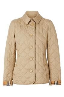 Бежевая стеганая куртка Burberry