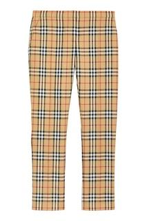 Клетчатые шерстяные брюки Burberry