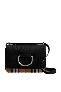 Черная сумка D-ring маленького размера Burberry