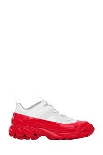 Бело-красные кроссовки Arthur Burberry