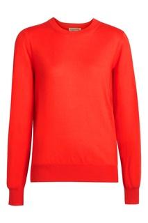 Красный джемпер со вставками Burberry