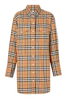 Удлиненная рубашка в клетку Vintage Check Burberry