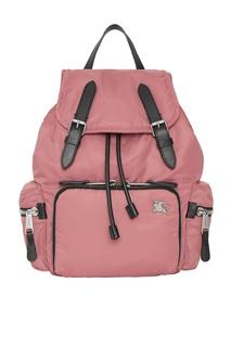 Розовый рюкзак из нейлона Burberry