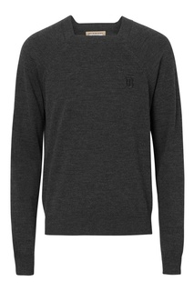 Серый пуловер с квадратным вырезом Burberry