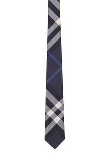 Клетчатый синий галстук Burberry