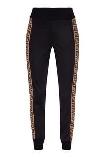 Спортивные брюки с монограммами Fendi
